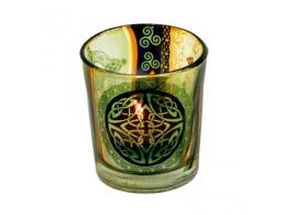 Mustriga klaas - teeküünlale/tšakraküünlale - Keldi sõlm - ALLAHINDLUS